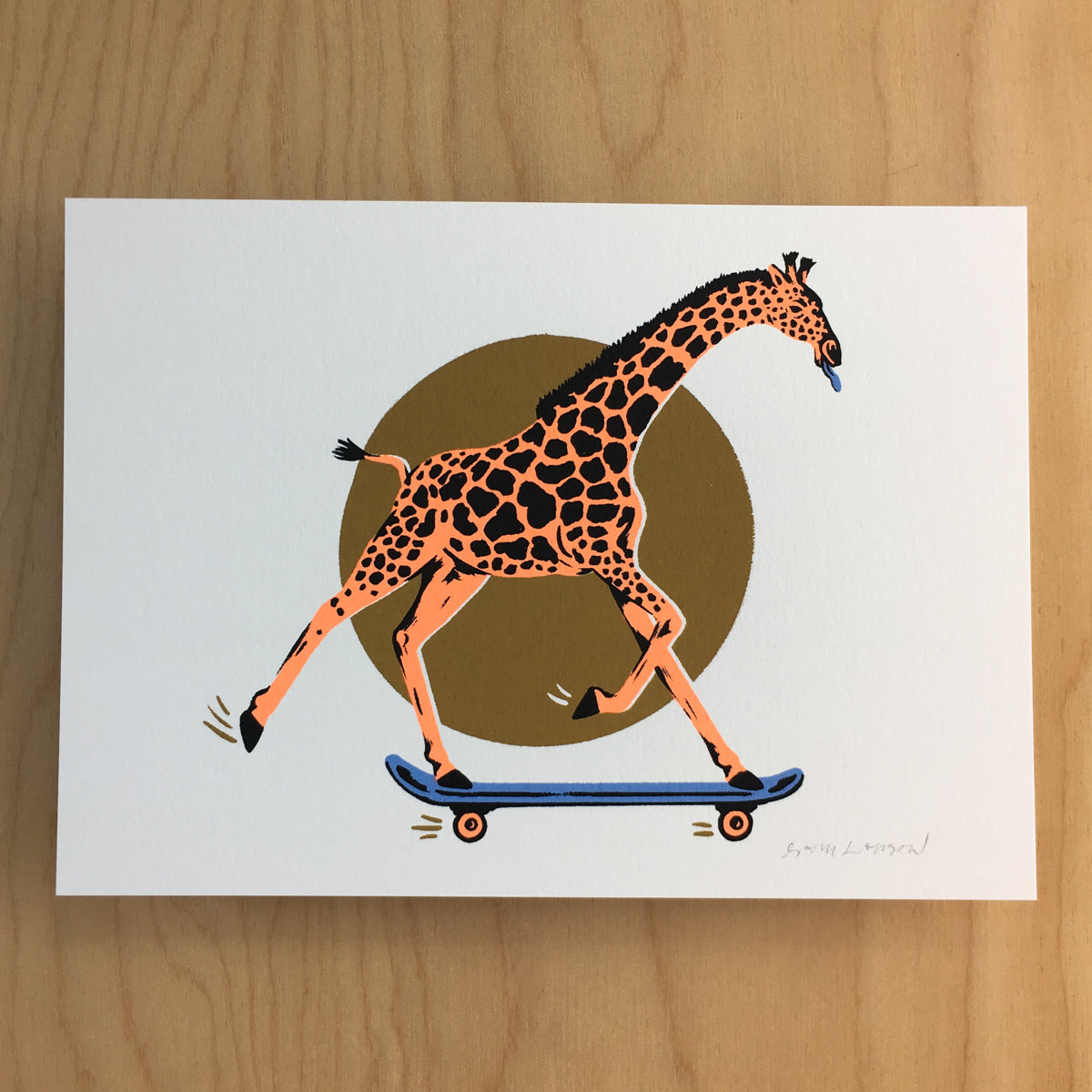 West Coast Giraffe - Signed Print #171