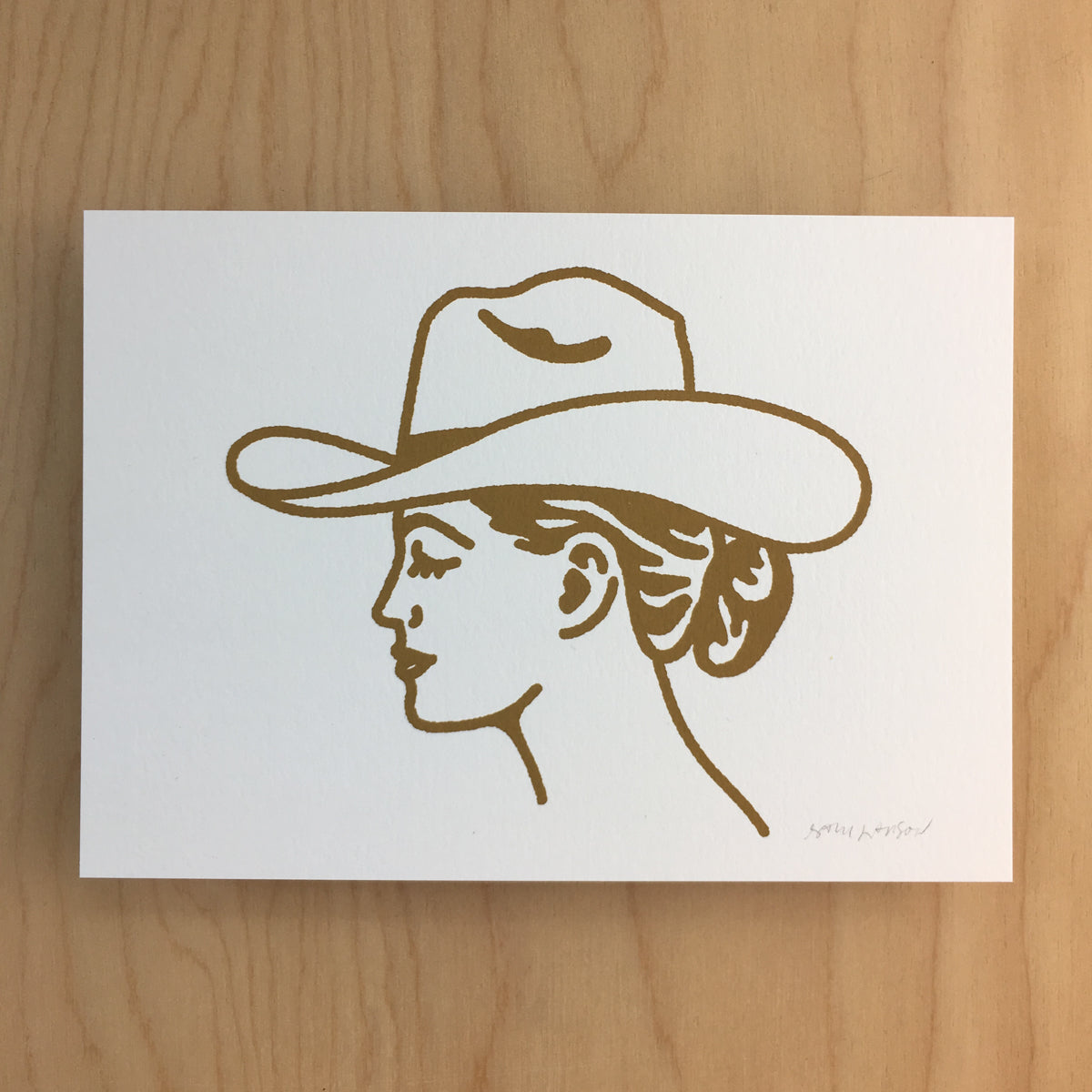 Austin Cowgirl - Signed Print #145 GOLD