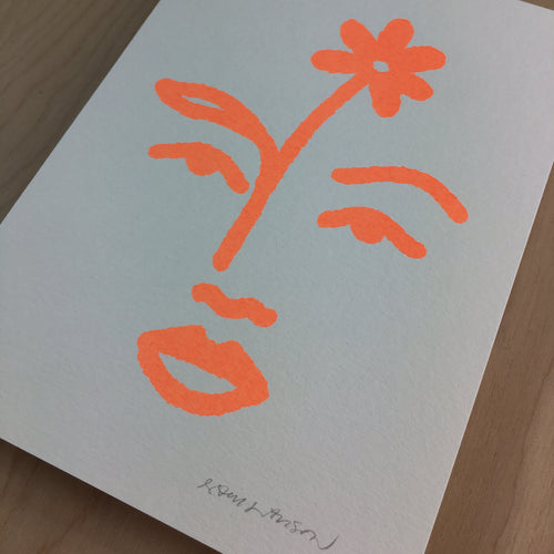 Bloom - Signed Print #147 Neon Peach