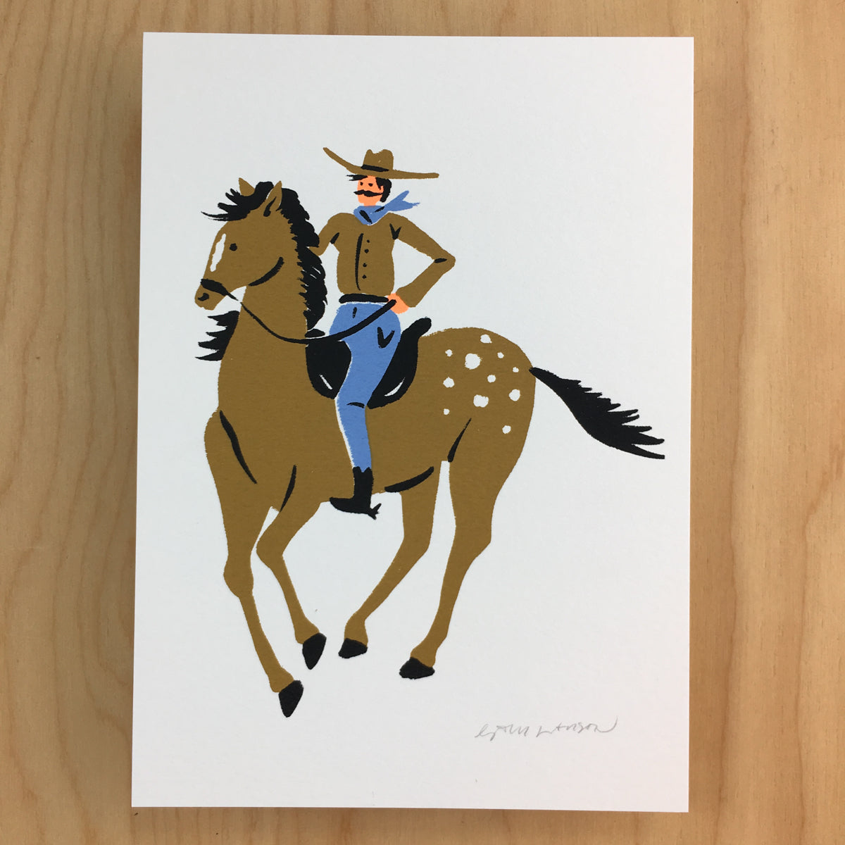 Howdy The Cowboy - Signed Print #170
