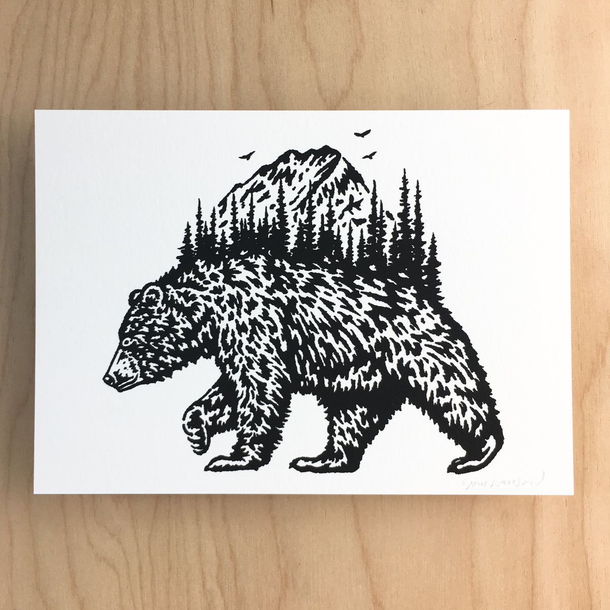 Wilderness Bear - Signed Print #133