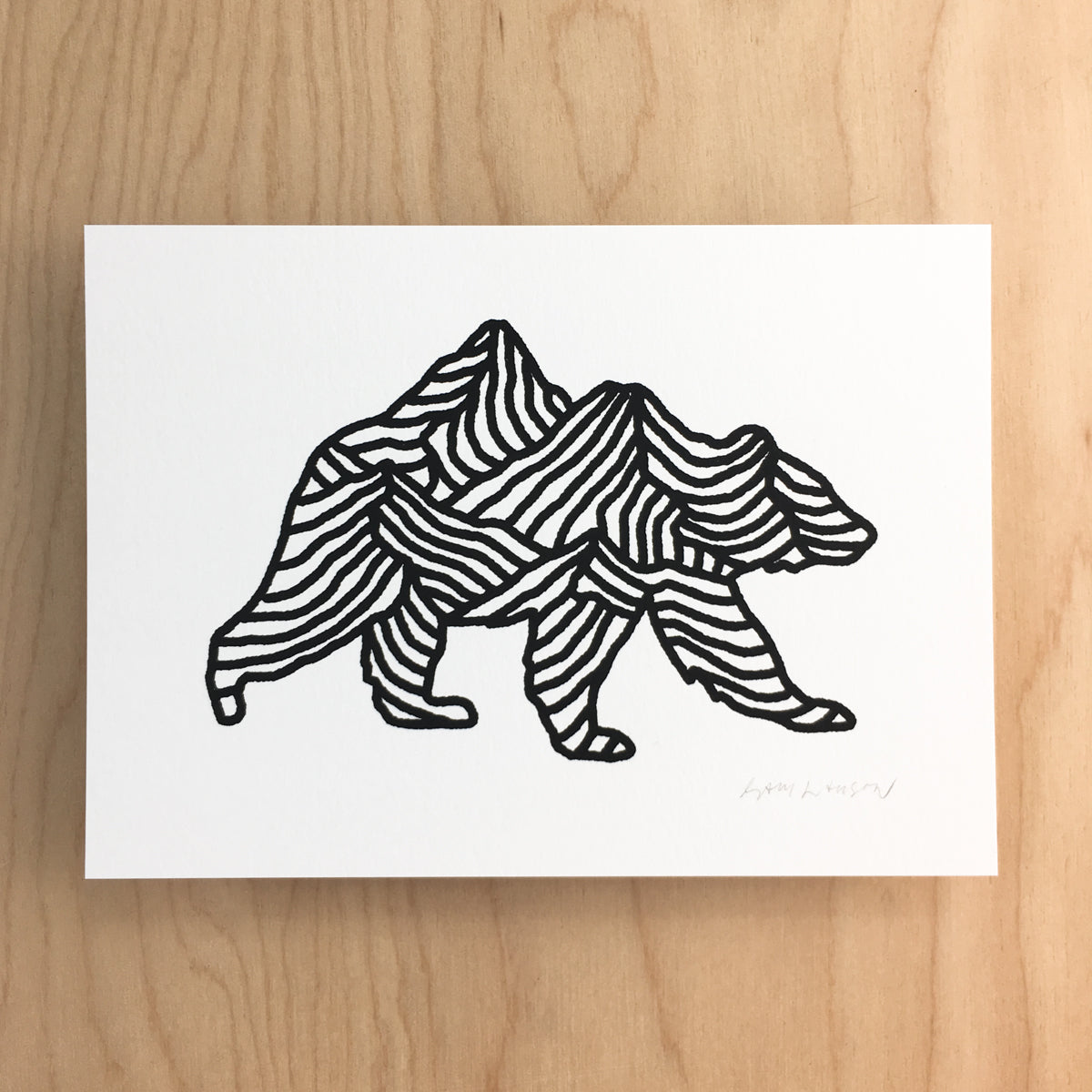 Bear Range - Signed Print #136