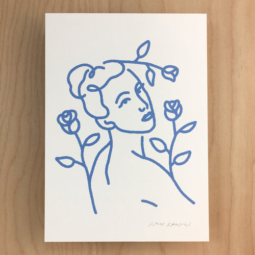 Rose Queen - Signed Print #148 Periwinkle