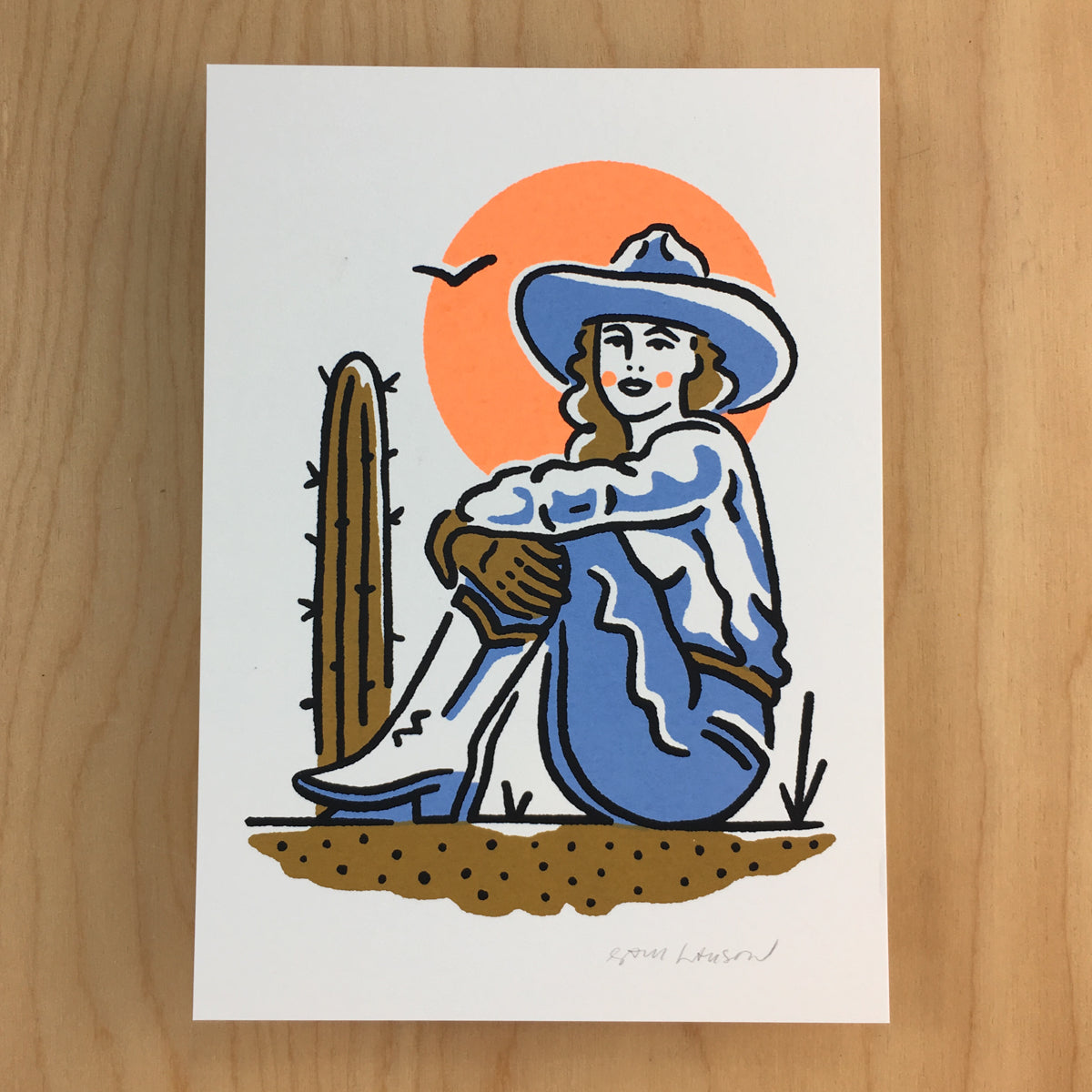 Phoenix Cowgirl - Signed Print #169