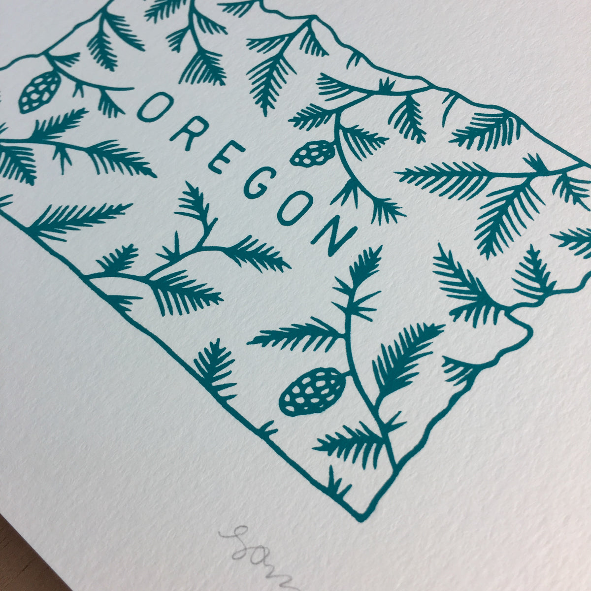 Oregon Pine - Signed Print #150
