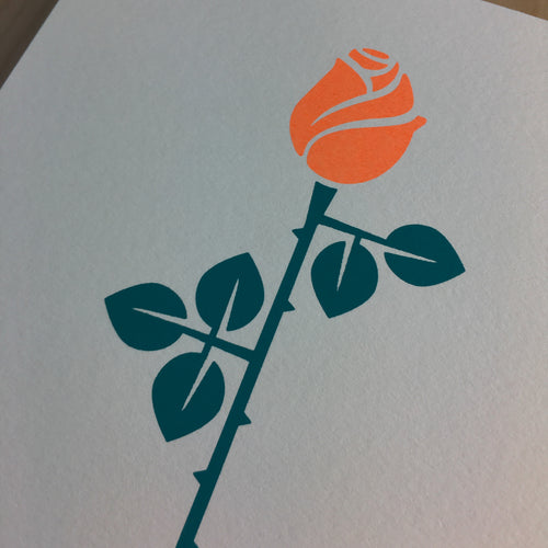 Simple Rose - Signed Print #150