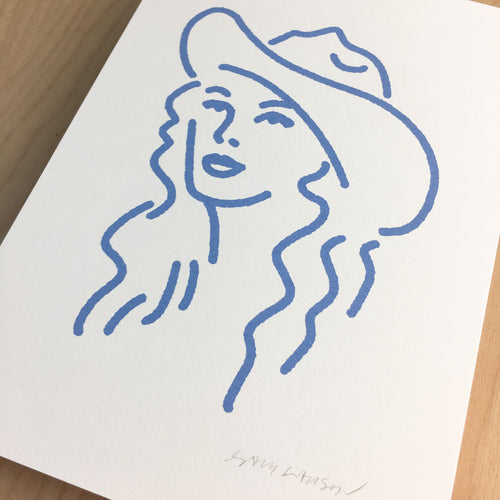 Nashville Cowgirl - Signed Print #143 PERIWINKLE