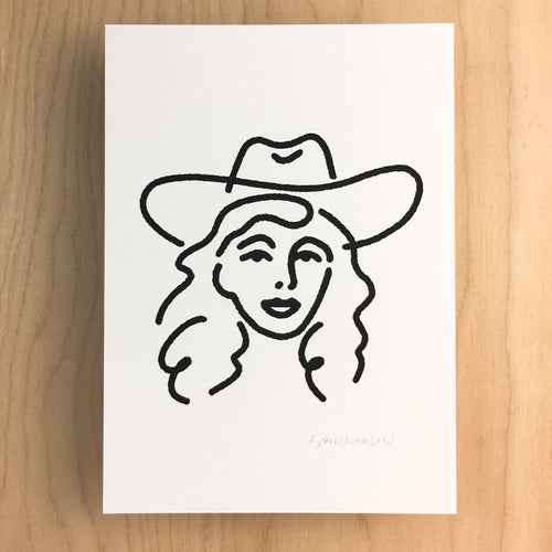 Dallas Cowgirl - Signed Print #144