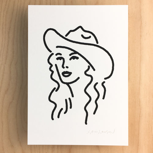 Nashville Cowgirl - Signed Print #143 BLACK