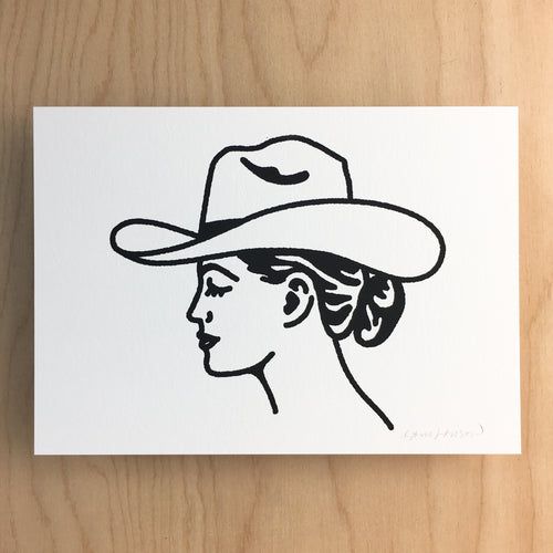 Austin Cowgirl - Signed Print #145 BLACK