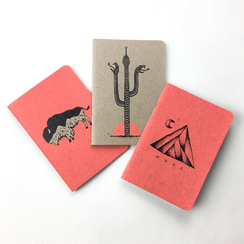 Coral Pocket Notebook 3-Pack