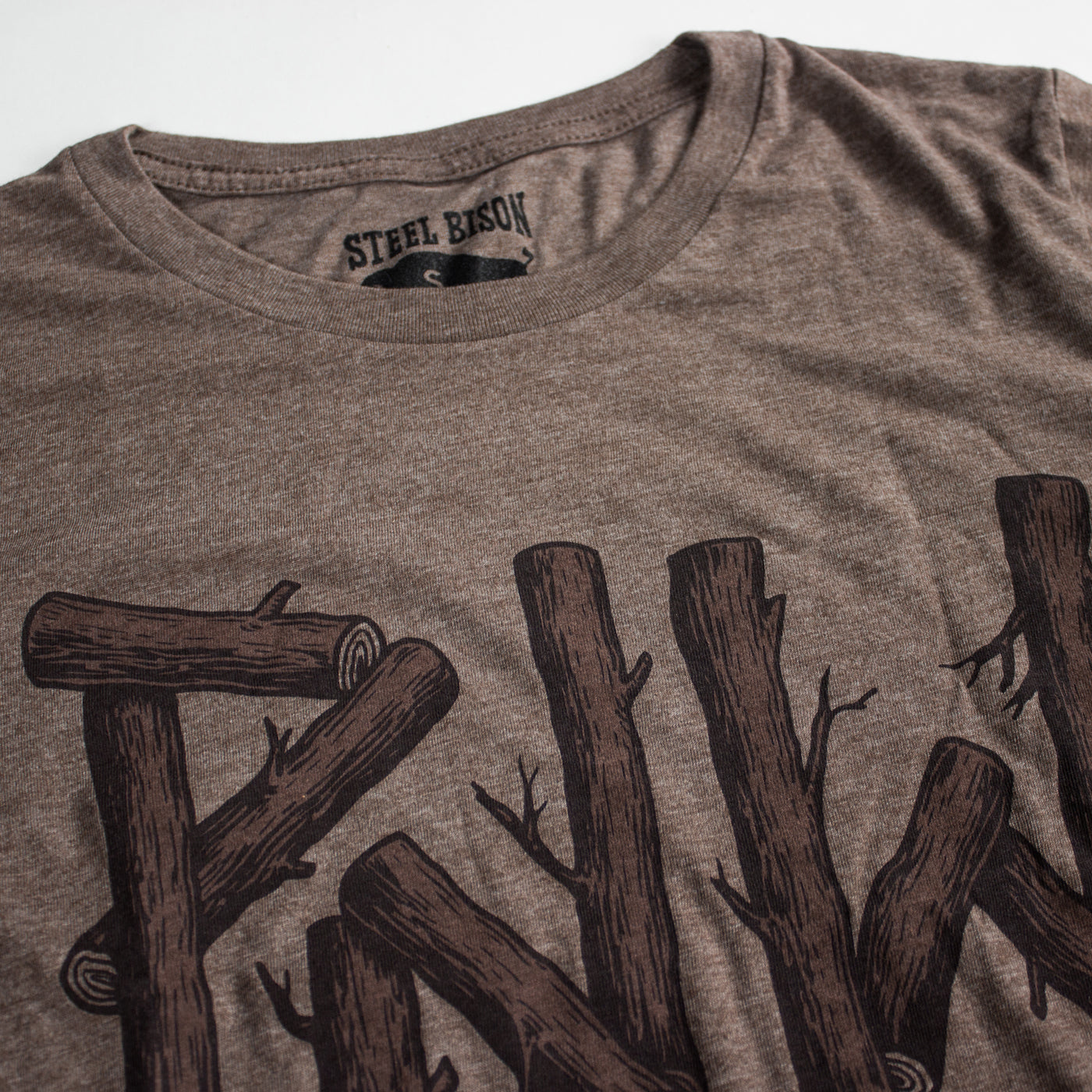PNW Logs Long Sleeve Shirt (Heather Brown)
