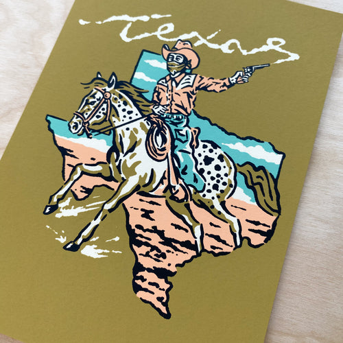 Texas Bandit - Signed 5x7in Print #237