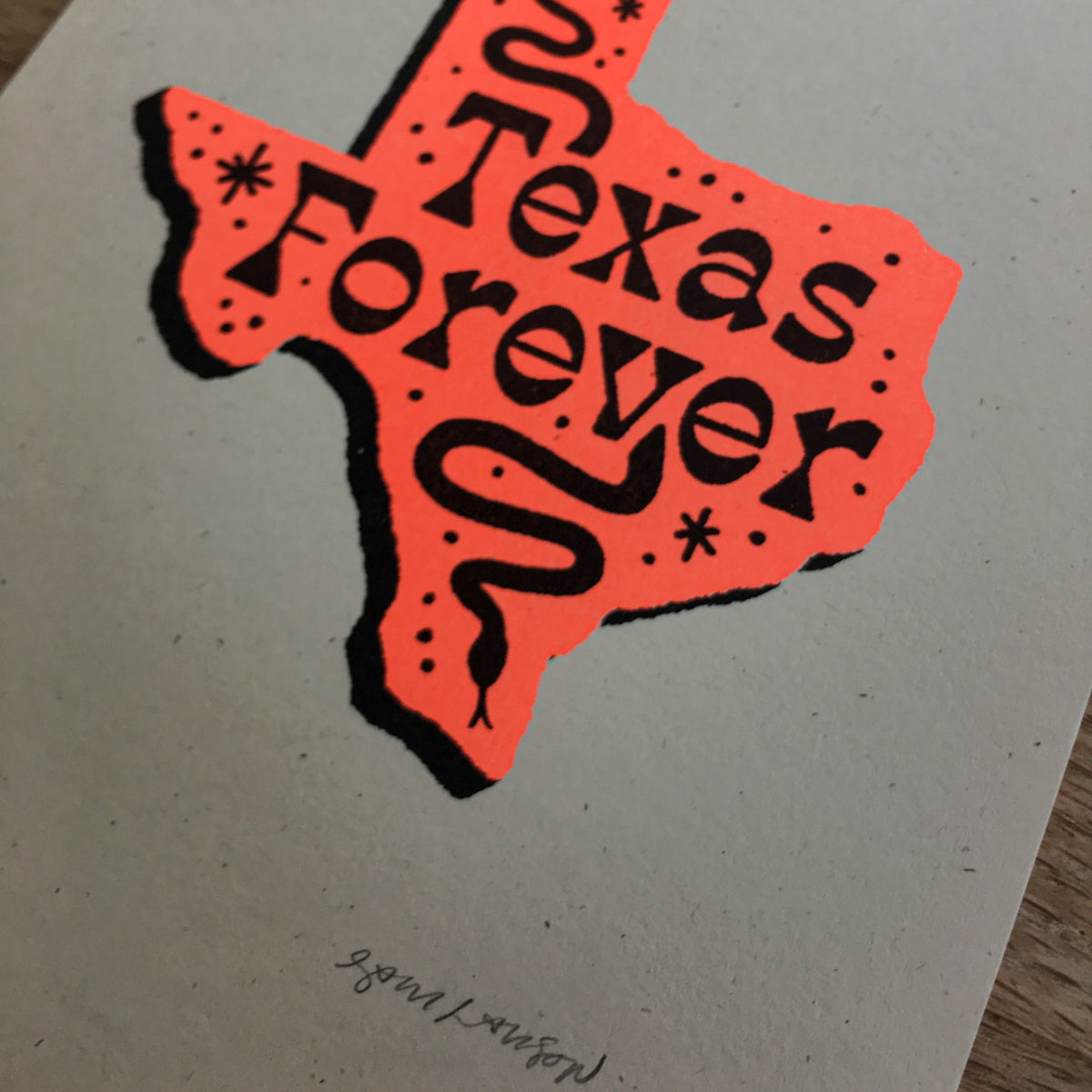 Texas Forever - Signed Print #105