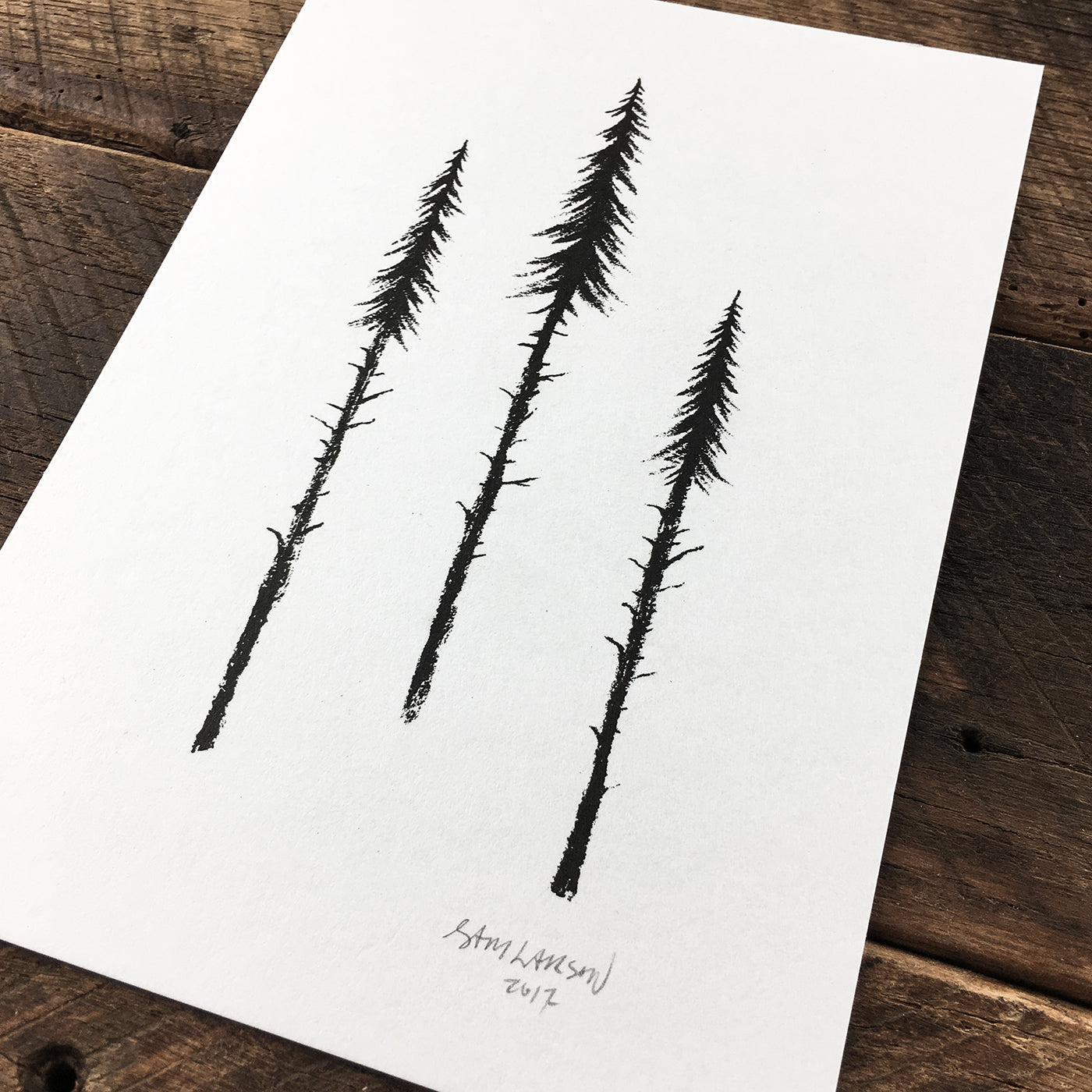 Three Pines - Signed Print #21