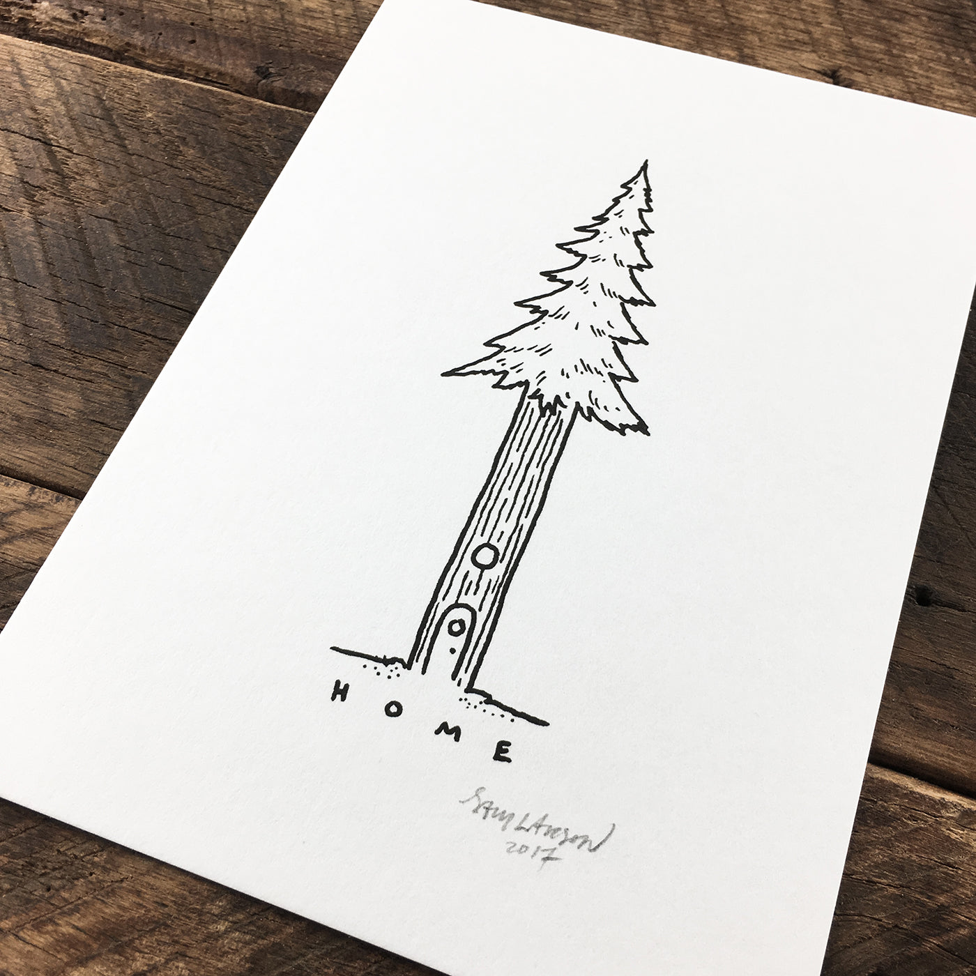 Tree house - Signed Print #65