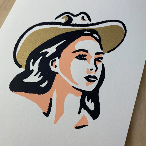 Tulsa Cowgirl (Gold) - Signed Print #167