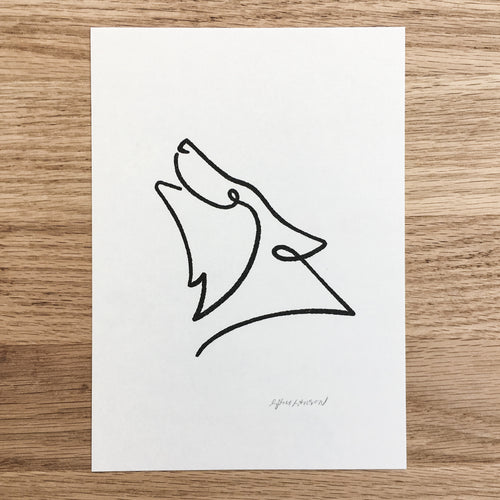 Abstract Wolf - Signed Print #118