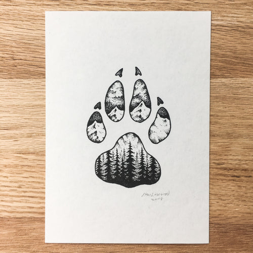 Wolf Paw - Signed Print #92