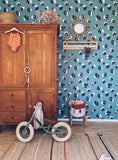 Behang Leopard Blue - roomblush