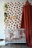 Behang Leopard Bordeaux-Nude - roomblush