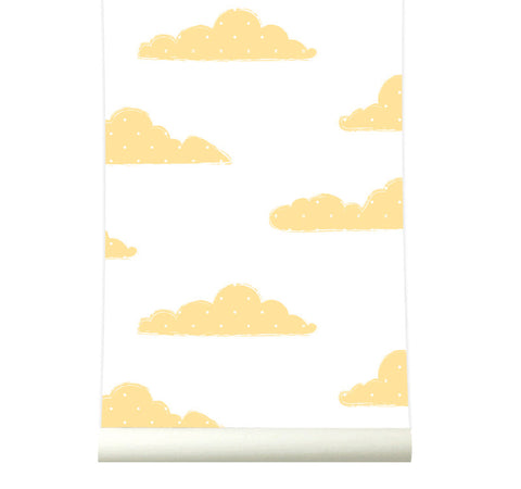 Behang Sweet Clouds yellow