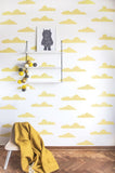 Behang Sweet Clouds yellow - roomblush