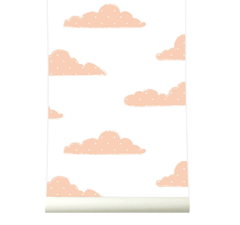 Behang Sweet Clouds pink