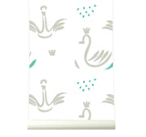 Behang Swans grey - roomblush
