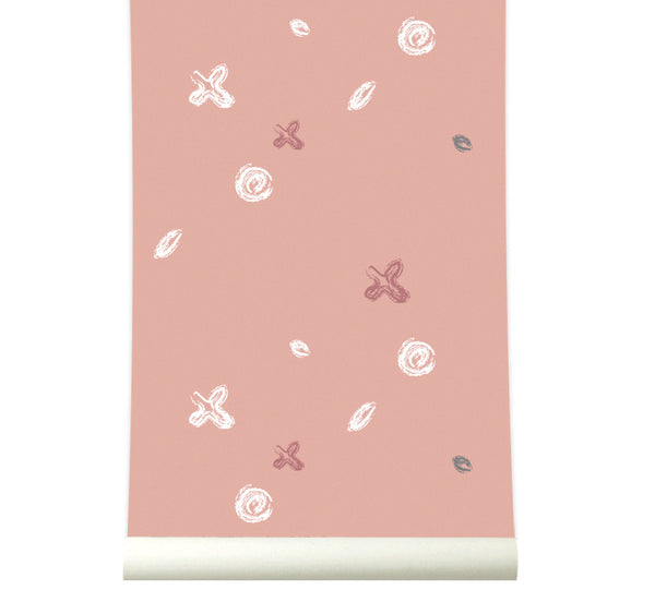 Behang Buttons pink - roomblush