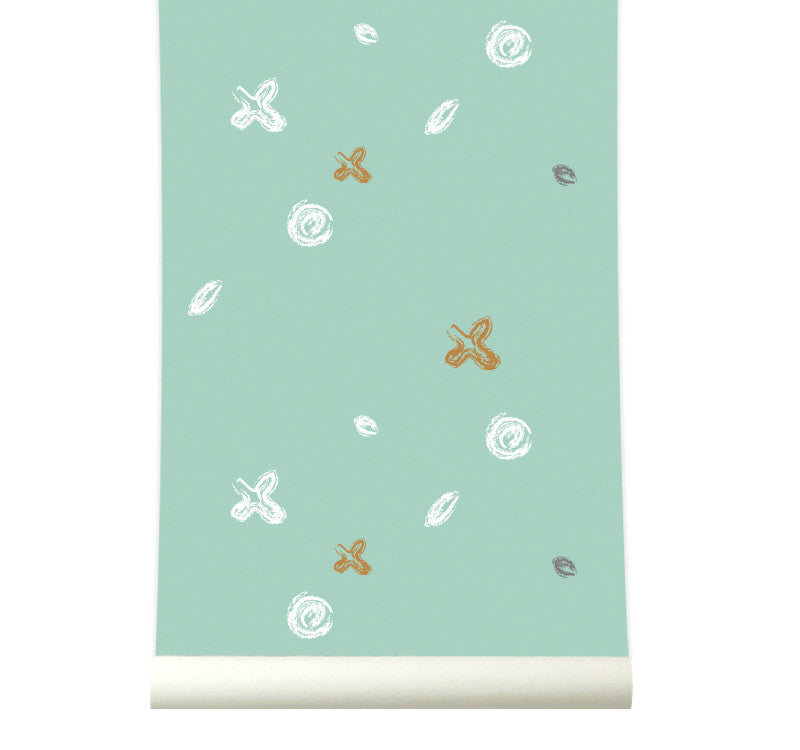 Behang Buttons pastelgreen - roomblush