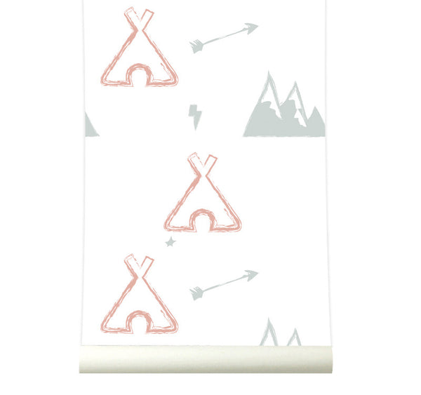 Behang Tipi pink - roomblush