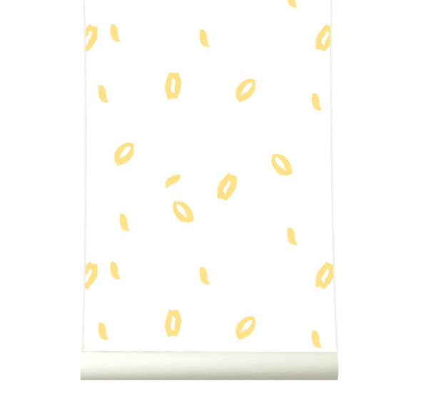 Behang Grafitti yellow - roomblush