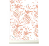 Behang Pineapple warmpink - roomblush