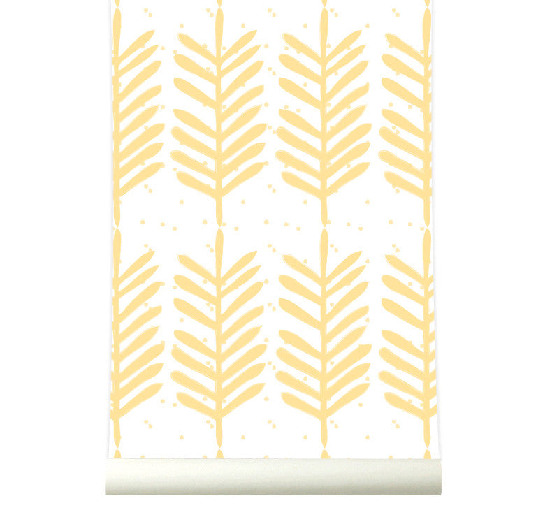 Behang Feathers yellow - roomblush