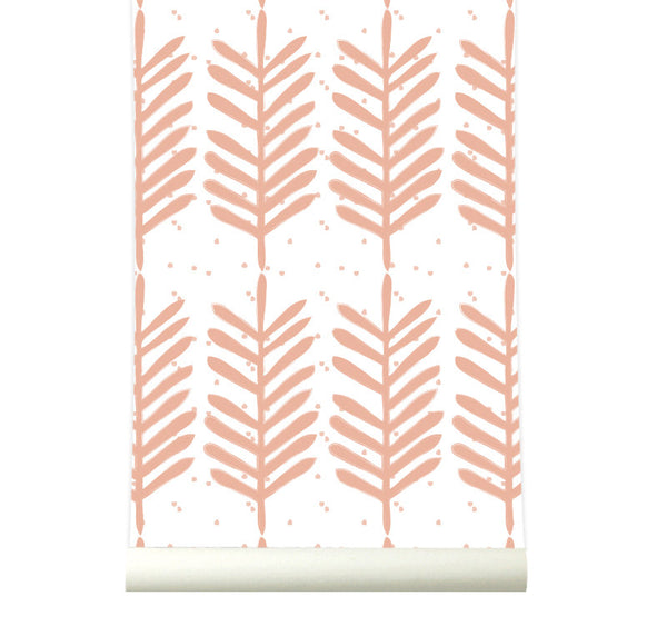 Behang Feathers warmpink - roomblush