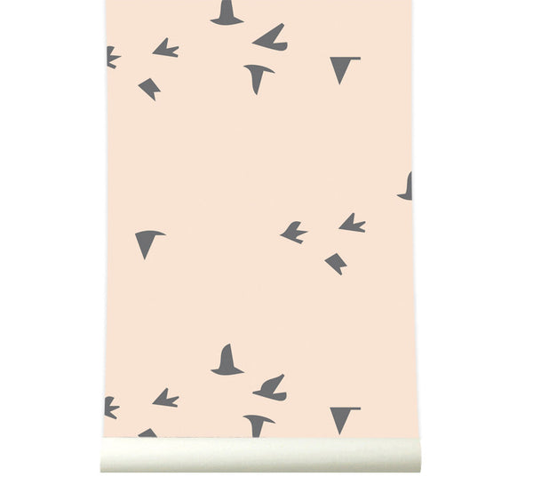 Behang fly with me pink - roomblush