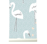 Behang in paradise softblue - roomblush