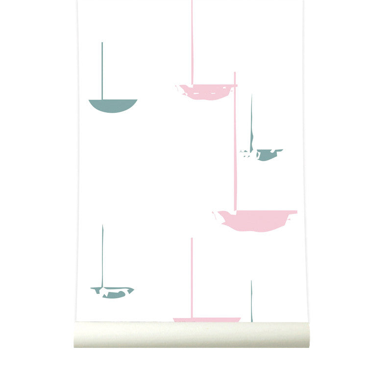 Behang go with the flow pink - roomblush