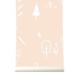 Behang wild forest pink - roomblush