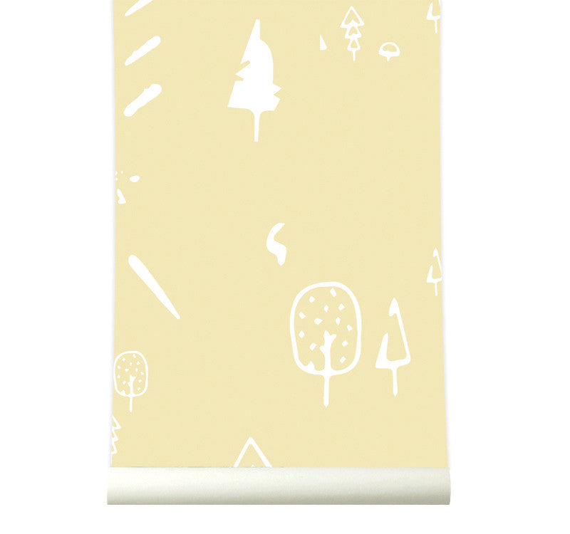 Behang wild forest yellow - roomblush