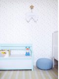 Behang going dotty blue - roomblush