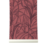 Behang Palmleaves bordeaux - roomblush