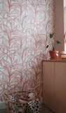Behang Palmleaves warmpink - roomblush