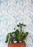 Behang Palmleaves blue - roomblush