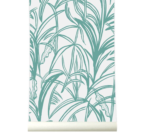 Behang Palmleaves green - roomblush