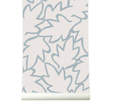 Behang Autumn Leaves Blue - roomblush