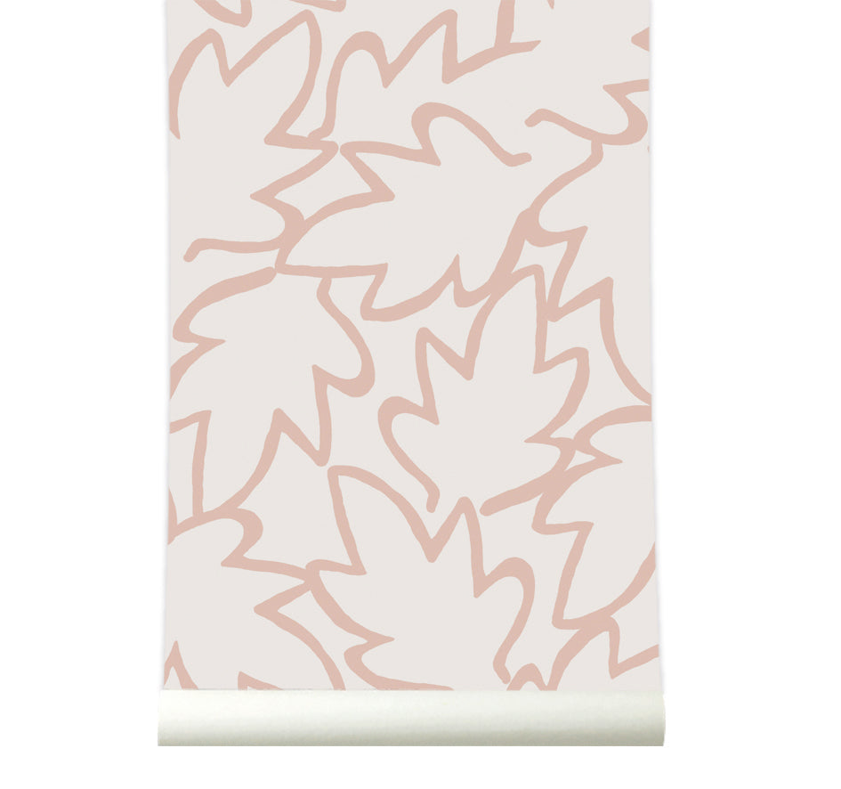 Behang Autumn Leaves peach - roomblush