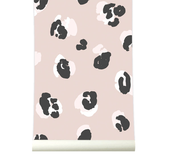 Behang Leopard Pink - roomblush
