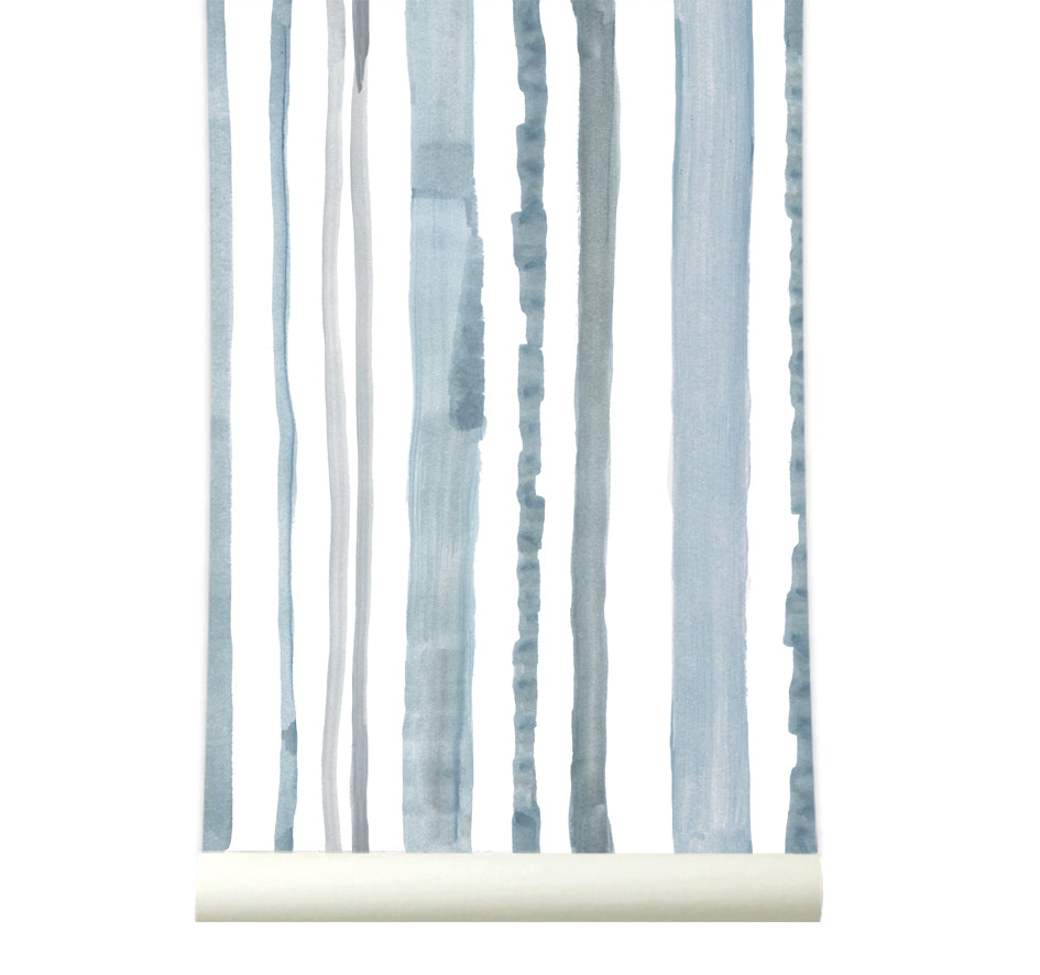 Behang Stripes Blue - roomblush